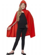 Childs Red Hooded Cape